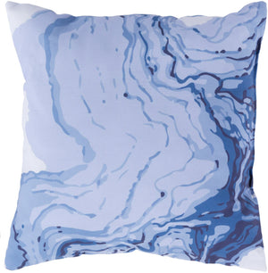Textures Pillow Cover - Violet, Sky Blue, Bright Blue - TX062