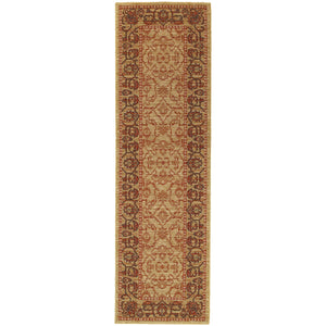 4928J Tommy Bahama Vintage Indoor Area Rug Beige/Red