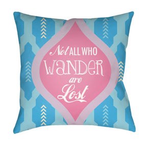 Warhol Pillow Cover - Bright Pink, Lilac, Sky Blue, Aqua - WA011