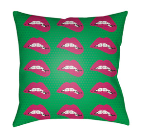 Warhol Pillow Cover - Lilac, Grass Green, Bright Pink, White, Dark Brown - WA016