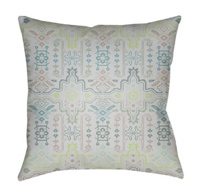 Yindi Pillow Cover - Dark Green, Lime, White, Taupe, Light Gray - YN012