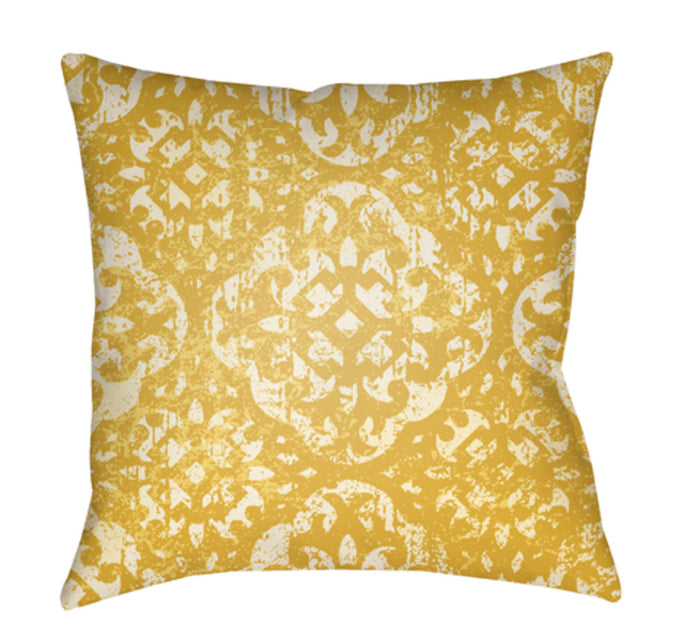 Yindi Pillow Cover - Medium Gray, Cream, Butter, Bright Yellow - YN018