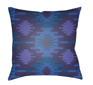 Yindi Pillow Cover - Bright Blue, Violet, Navy - YN028