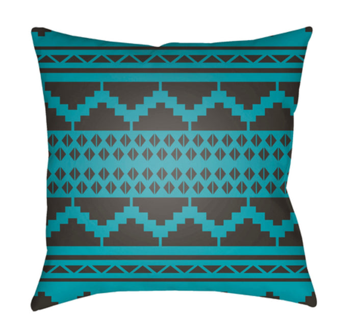 Yindi Pillow Cover - Black, Teal - YN032