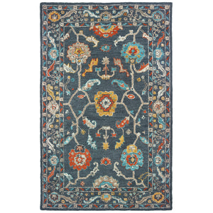 75501 Zahra Indoor Area Rug Blue/ Gold