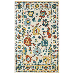75507 Zahra Indoor Area Rug Ivory/ Gold