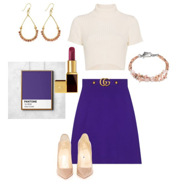 violet outfit inspiration