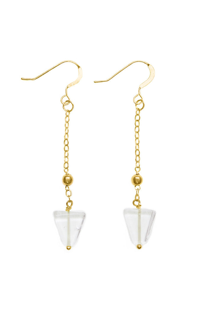 Kundalini Earrings, Gold - 100 Graces
