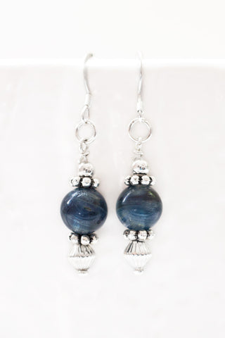 Kyanite Drop Earrings - 100 Graces