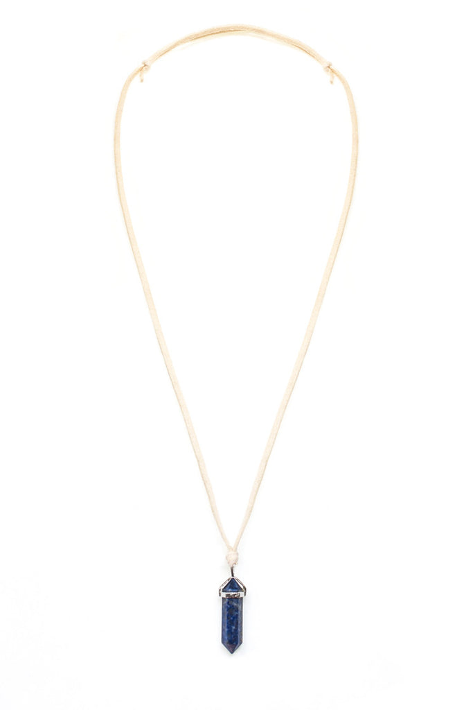 Lapis Lazuli Point Necklace - 100 Graces