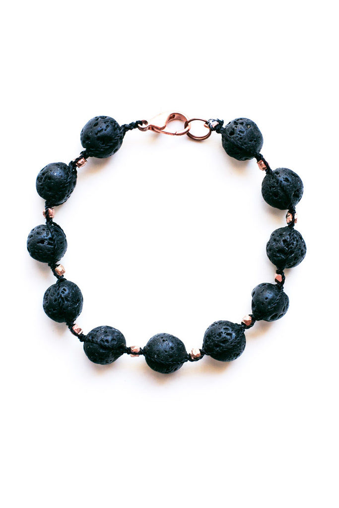 Lava Stone and Copper Diffuser Bracelet