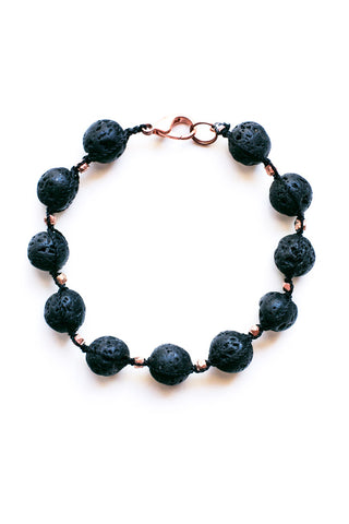 Lava Stone and Copper Diffuser Bracelet - 100 Graces