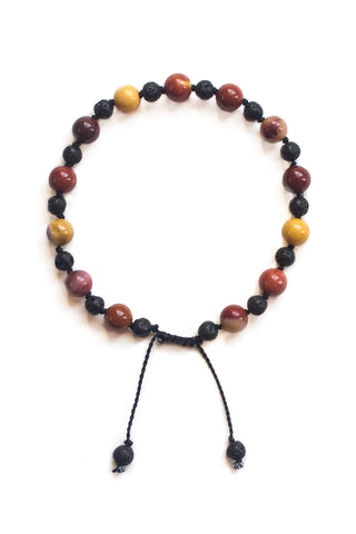 Mookaite and Lava Stone Bracelet - 100 Graces