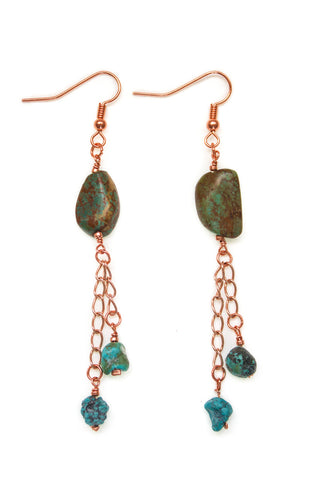 Shakti Earrings, Rose Gold - 100 Graces