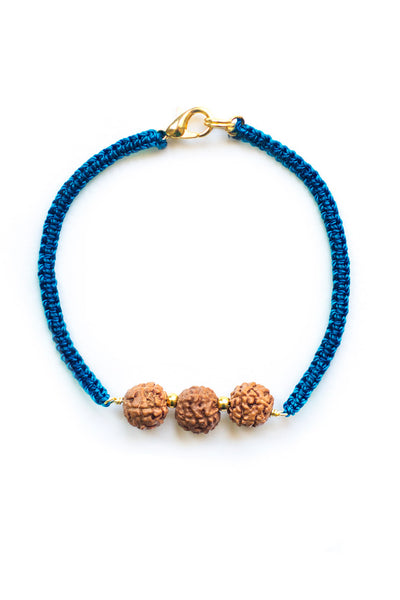 Triple Bodhi Seed Diffuser Bracelet Turquoise - 100 Graces