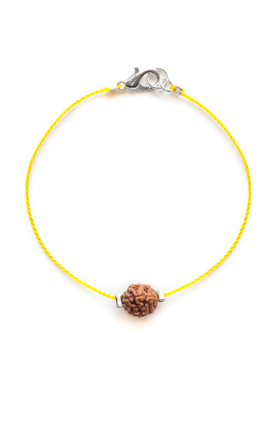 Yellow Kids Bodhi Seed Diffuser Bracelet - 100 Graces