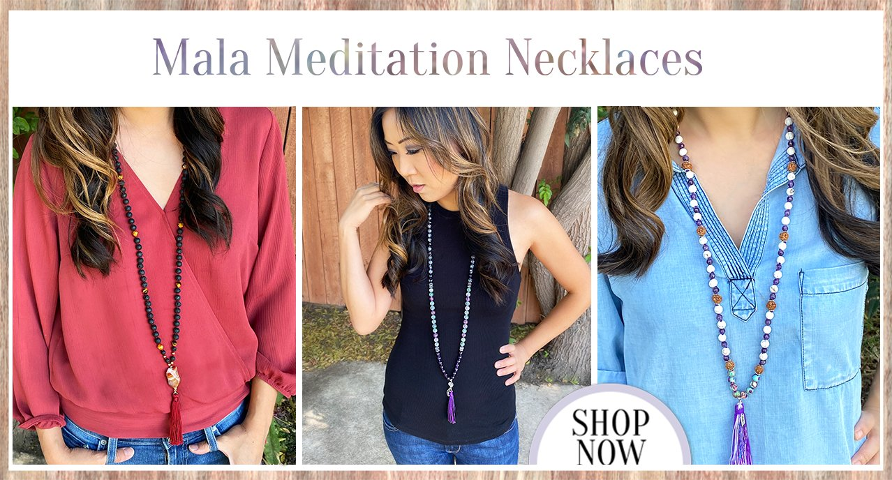108 bead yoga mala necklaces