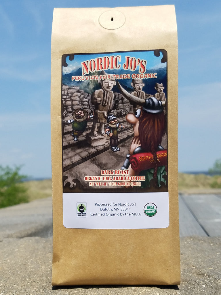 Peruvian Fair Trade Organic Dark Roast 10oz Ground
