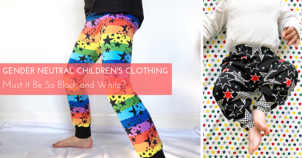 3ee9bbbe697 Gender Neutral Children's Clothing – Must it Be So Black and White? – Tutti  Frutti Clothing