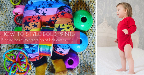 How To Style Bold Prints - Finding basics to create great kids outfits.