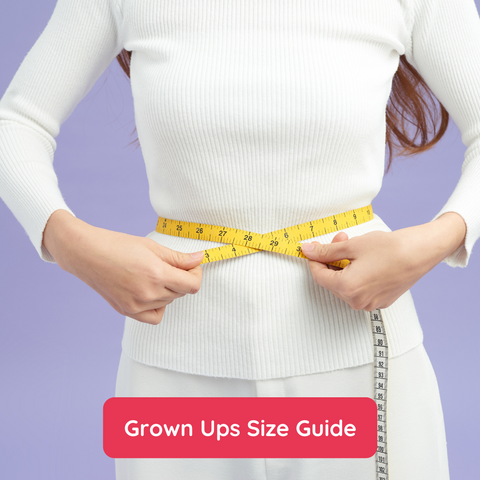 Grown ups size guide