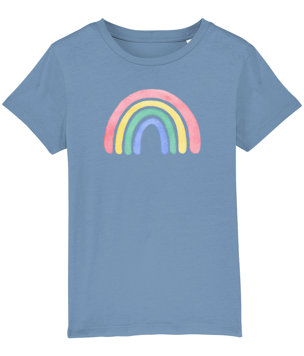 Watercolour Rainbow T-shirt - Child - 8 colours available
