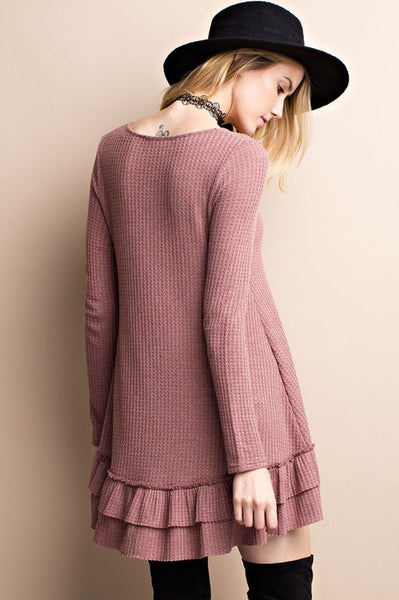 Frosty Mornings Cabin Ruffle Mauve Thermal