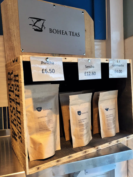 A select range of our teas are now in stock at Out of the Blue in Chorlton