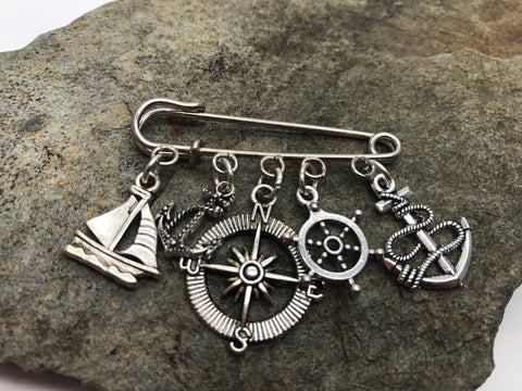 Sailing Themed Kilt Pin