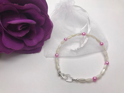 Mother of Pearl & Freshwater Pearl Bracelet