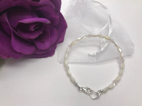 Mother of Pearl & Rose Quartz Bracelet
