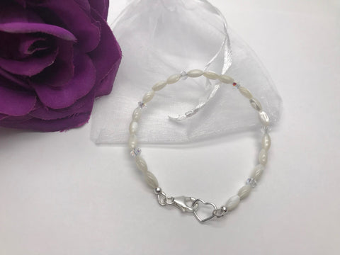 Mother of Pearl & Crystal Bracelet