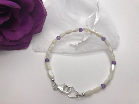 Mother of Pearl & Amethyst Bracelet