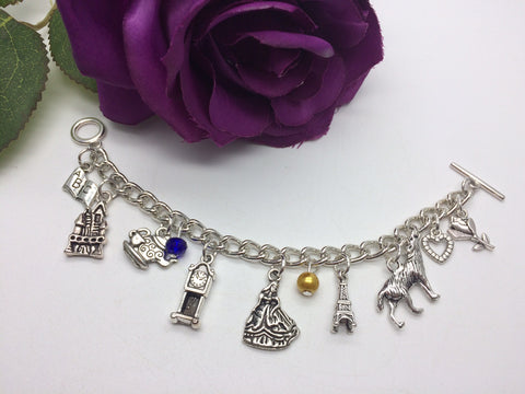 Beauty & The Beast Theme Charm Bracelet