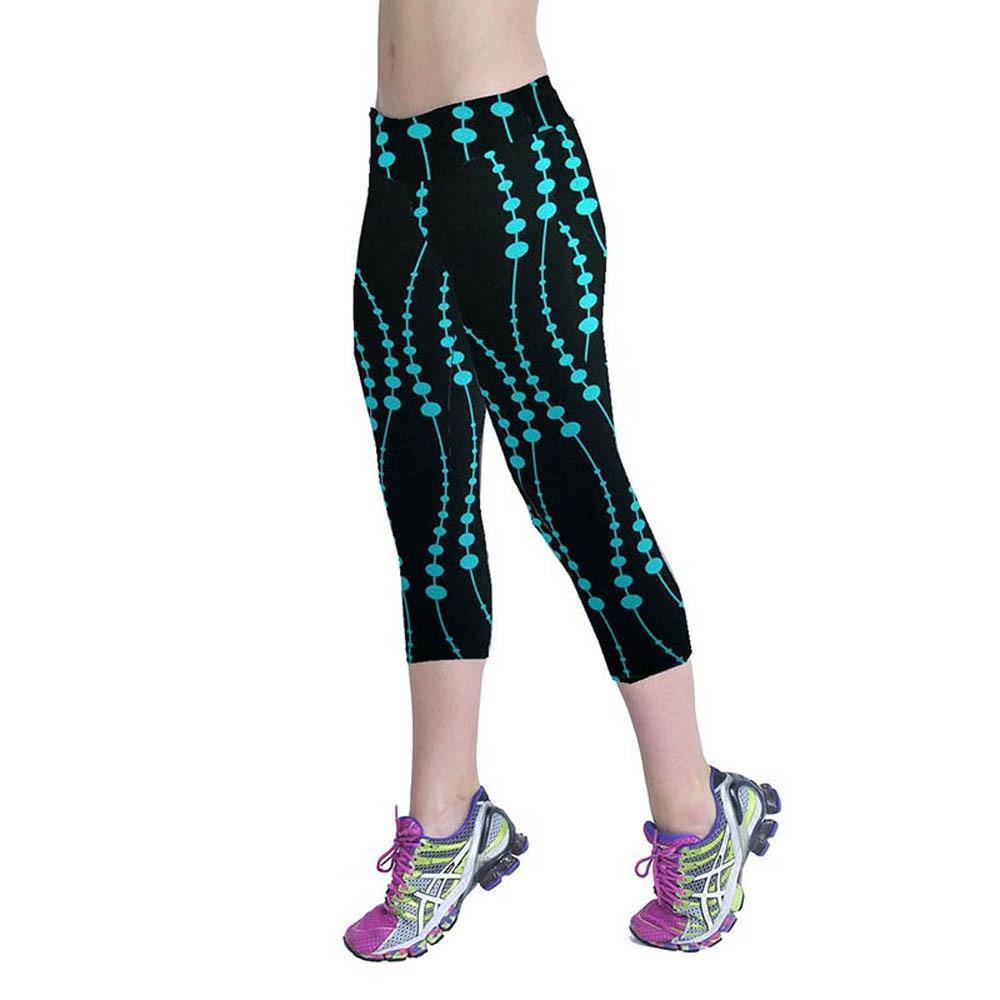 Women Fitness Printed Sport Pants