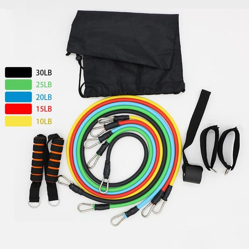 Fitness Resistance Bands 11 Pcs