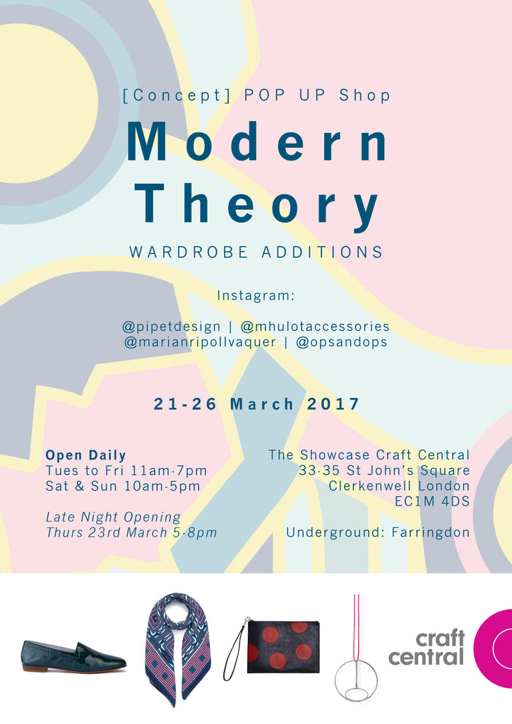 'Modern Theory' Pop-Up Shop at Craft Central.