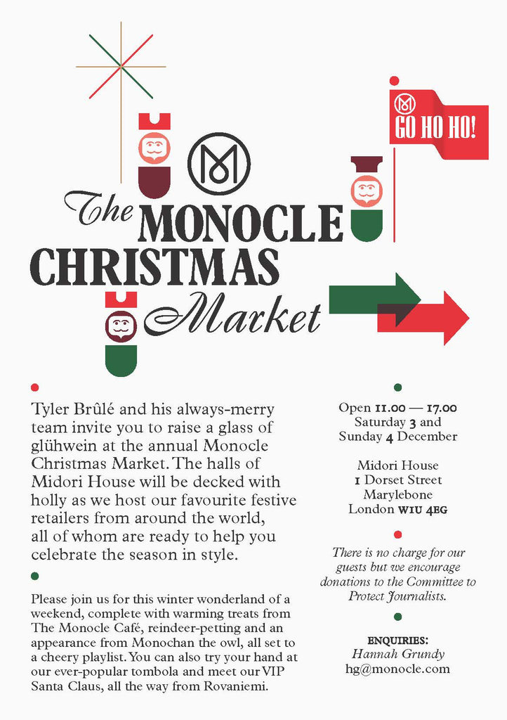 M.Hulot at The Monocle Christmas Market 2016.