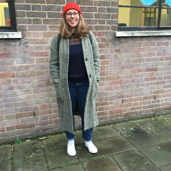 Isla Macmillan wearing our Purl Hat.