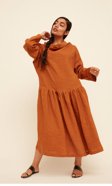 Lyn Dress - Cinnamon