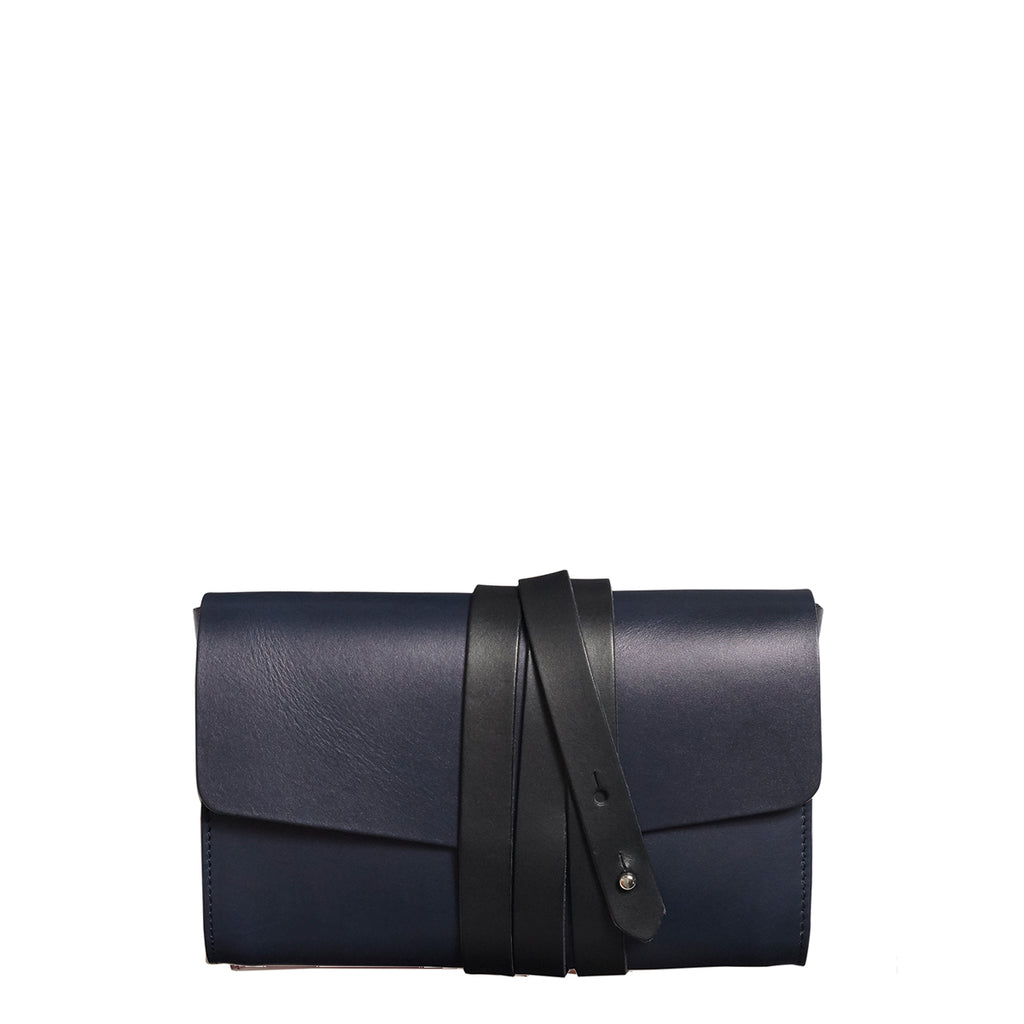 Garrard Clutch - Navy with Black