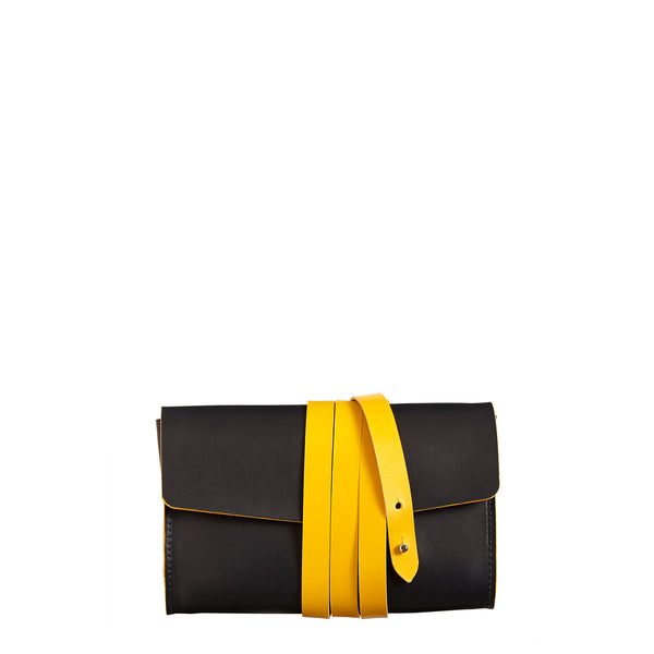 Garrard Clutch - Navy with Yellow
