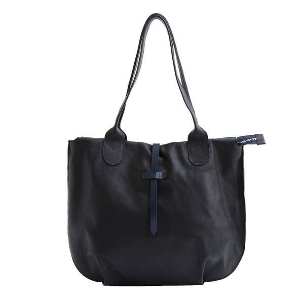 Soames Tote - Black with Navy