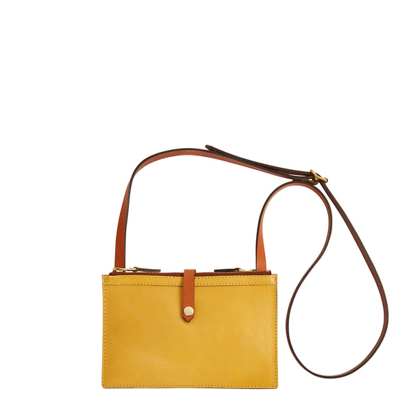 Hulot Pouch Bag - Yellow/Conker