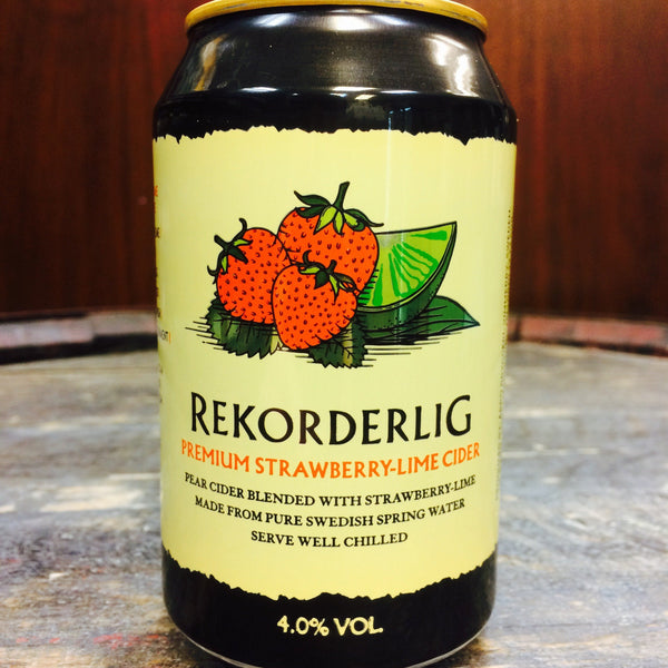 Rekorderling Premium Strawberry-Lime Cider