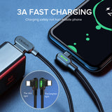 Mcdodo USB C Cable, 【3 Pack 1.6+4+10ft】3A USB Type C Fast Charging Cable Nylon Braided Charger Cord, Mobile Data Cables Compatible with Samsung Galaxy S10 S9 Plus Note 10 Huawei Mate 30 20 Pro OnePlus