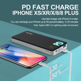 GETIHU PD Qc Fast Charge Portable Charger 10000mAh USB C Power Delivery Quick Charge Power Bank 18W Input & Output Battery Pack Compatible with iPhone Xs Max X 8 Plus Samsung Galaxy Nintendo Switch