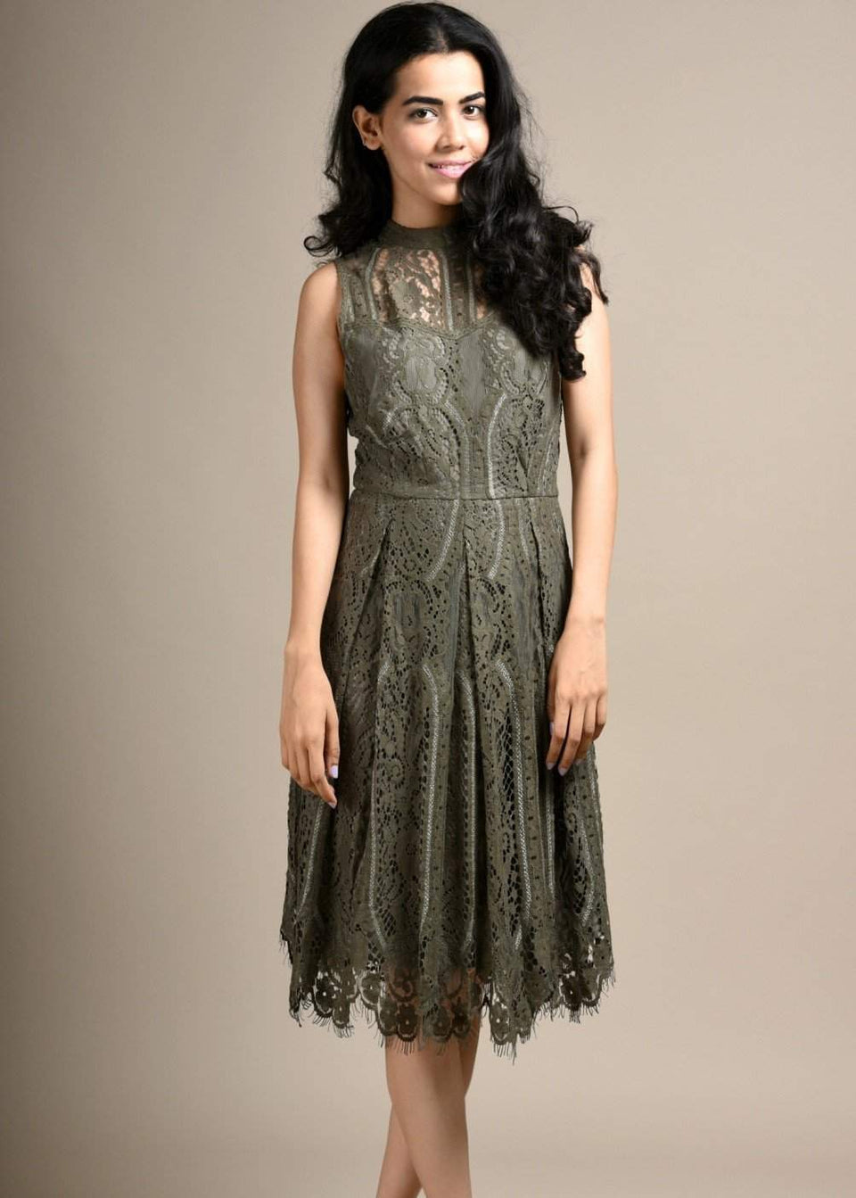 CLASSIC THREAD Spill The Beans Lace Midi Dress - Green