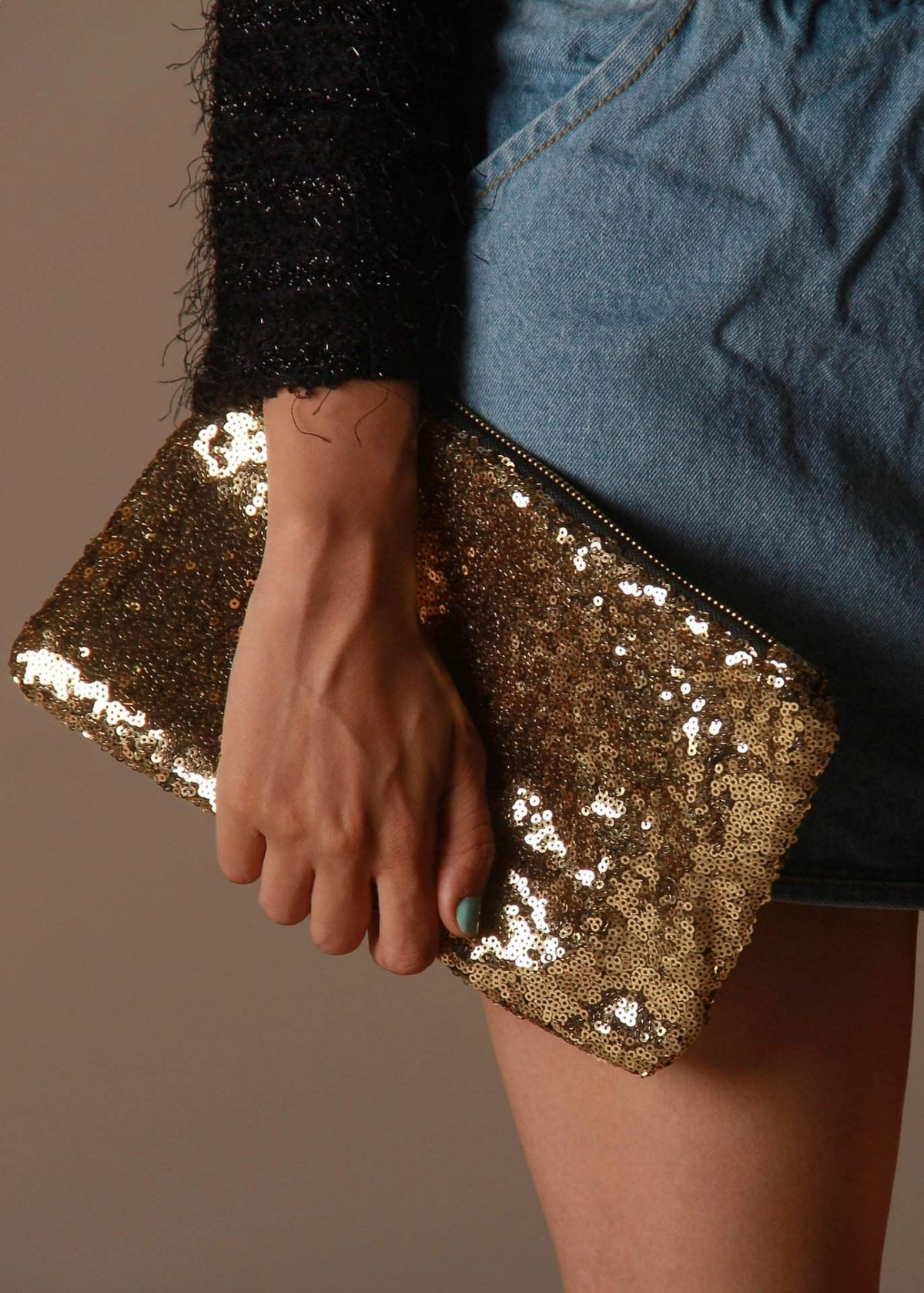 Wowed Love And Desire Sequins Clutch - Golden