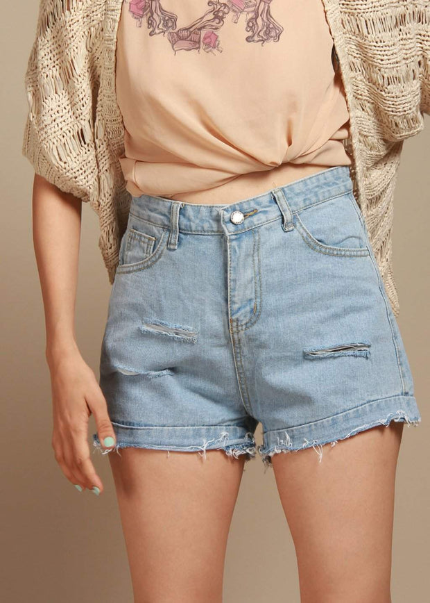 Frogged Highty And Mighty High-Rise Denim Shorts